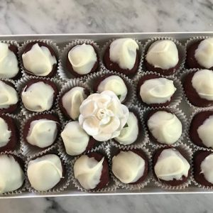 Red Velvet Cake Truffles by The Diabetic Pastry Chef