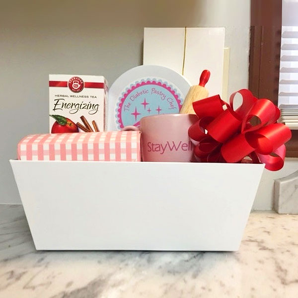 Gourmet gift basket sugar free no sugar added items everyone sugar free no sugar added diabetic gourmet gift basket by the diabetic pastry chef negle Image collections