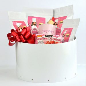 LARGE Diabetic, Sugar Free WHITE Gift Basket by The Diabetic Pastry Chef™
