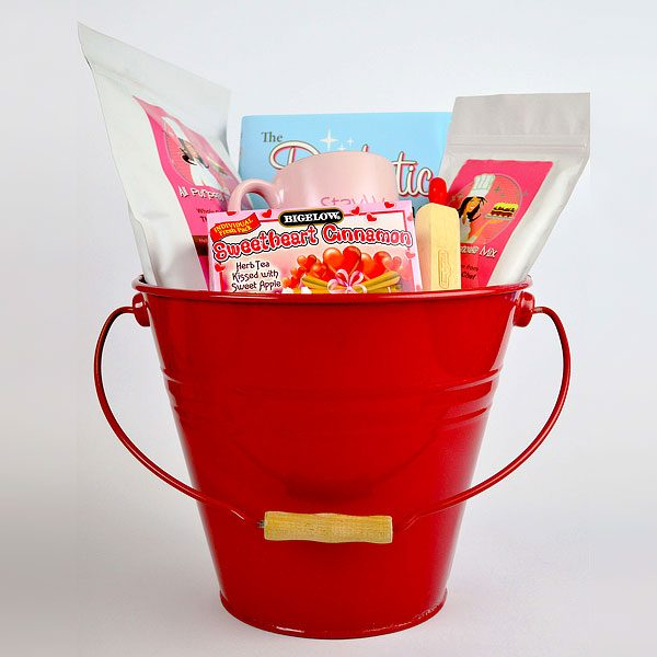 Gift basket sugar free diabetic friendly large red basket large diabetic sugar free red gift basket by the diabetic pastry chef negle Gallery