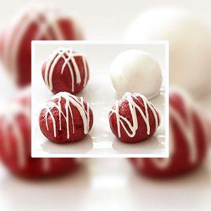 SUGAR FREE Red Velvet Cake Truffles by The Diabetic Pastry Chef