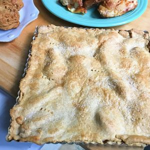 Sugar-Free Peach Slab Pie by The Diabetic Pastry Chef