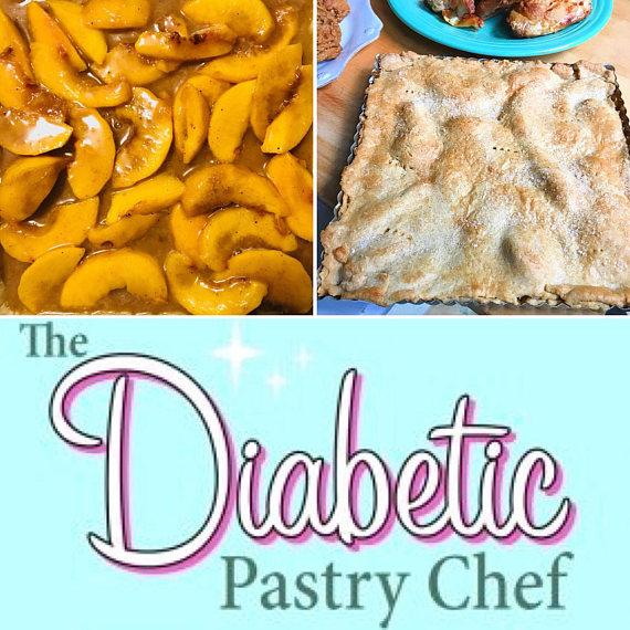 Sugar-Free Peach Slab Pie by The Diabetic Pastry Chef