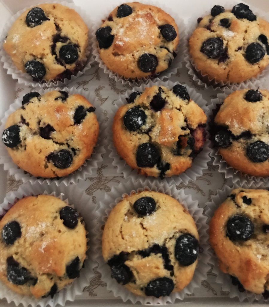 Sugar Free Blueberry Muffins by The Diabetic Pastry Chef™