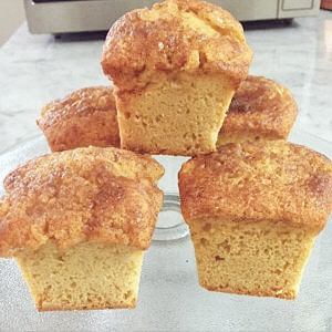 SUGAR FREE Muffins - SUGAR FREE Coffee Cake Muffins by The Diabetic Pastry Chef™