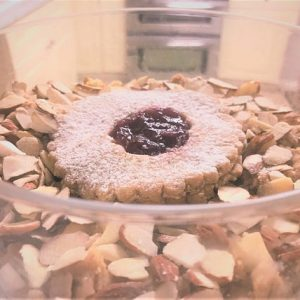 EDIBLE Cookie Dough: Raspberry Linzer Torte | Sugar-Free (No-Sugar-Added) OR Sugar-Added by The Diabetic Pastry Chef