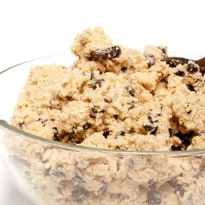 EDIBLE Cookie Dough: Boozy Rum-Raisin Oatmeal (Toasted Pecans Optional) | Sugar-Free (No-Sugar-Added) OR Sugar-Added by The Diabetic Pastry Chef