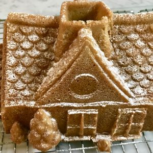 Sugar Free Gingerbread House Cake by The Diabetic Pastry Chef™