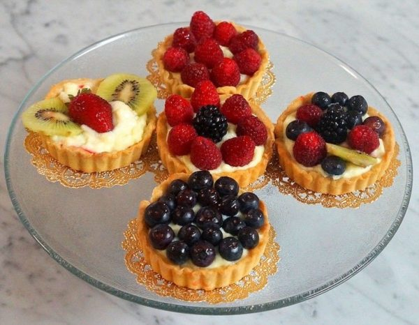 Fresh Fruit Tartlets by The Diabetic Pastry Chef