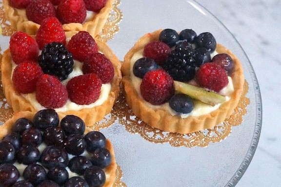 Fresh Fruit Tartlets by The Diabetifc Pastry Chef