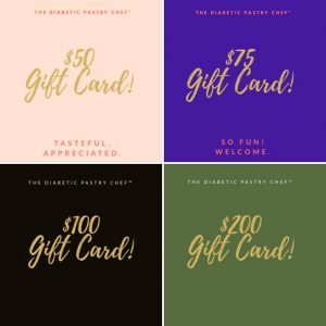 The Diabetic Pastry Chef - Buy gift cards