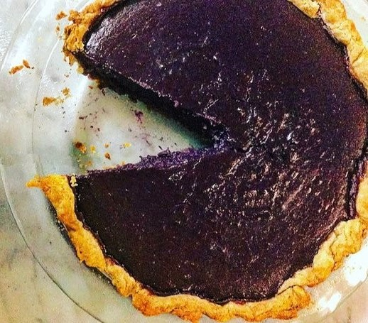 Purple Sweet Potato Pie by The Diabetic Pastry Chef